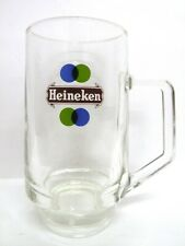 "Heineken half pint glass Beer Mug vgc (5 1/2"" x 2 3/4"") - 2 mugs available"