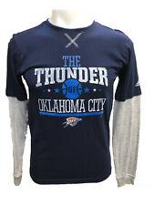 Oklahoma City Thunder Youth Boys Faux-Layered Long Sleeve Thermal Shirt - Navy