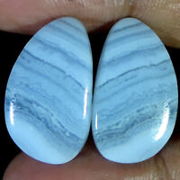Best Offer 100% Natural Blue Lace Agate Fancy Shape Pair Cabochon Loose Gemstone