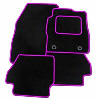 VAUXHALL ASTRA 2004-2009 TAILORED BLACK CAR MATS WITH PINK TRIM