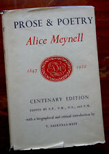 Prose & Poetry Alice Meynell 1847 - 1922 Centenary Edition