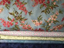 5 YARDS  Quilt Fabric Kit in Blues/Green Florals