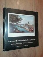 FINE AND RARE BOOKS ~ SOTHEBY PARKE BERNET NEW YORK AUCTION CATALOGUE 1979