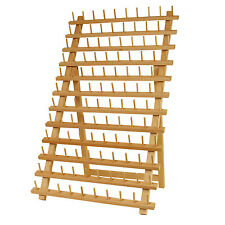 Premium Beech wood 120-Spool Sewing and Embroidery Thread Rack Stand