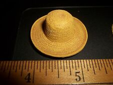 STRAW HAT FOR THE GARDENER - DOLL HOUSE MINIATURE - RESIN
