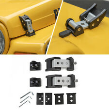 Car Hood Latches Hood Lock W/ Strong Catch for Jeep Wrangler TJ 1997-2006 Metal