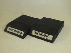 Math Fun & Night Stalker (Intellivision, 1984) Rare White Label Games Nice Shape