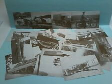 A SET of 20 JAMES FLOOD POSTCARDS of CARS, PLANES, & BIKES in black and white