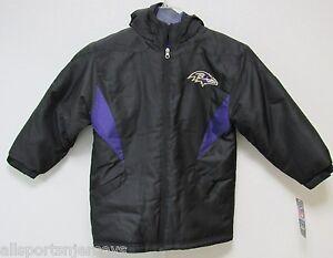 NFL Baltimore Ravens Sideline Jacket Size Youth Large New w/Tag