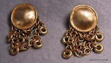 Vintage Ginny Johansen Gold Plated Dangle Post Earrings for Pierced Ears