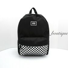 NWT Vans Realm Classic Backpack School Laptop Bag Checkerboard Black Iridescent