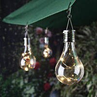 Solar Rotatable Outdoor Garden Camping Hanging LED Light Lamp Bulb Waterproof