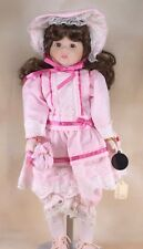 "Vintage Collector's Brinn's Girl Porcelain Doll Brown Hair and Eyes 15"" 1988"