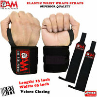 WEIGHT LIFTING GYM TRAINING WRIST SUPPORT STRAPS WRAPS BODYBUILDING MMA TRAINING