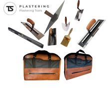 4-REND LEATHER PLASTERING TOOL BAG  - NELA REFINA MARSHALTOWN OX TROWELS TOOLS