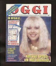 OGGI 44/89 SAN FRANCISCO TERREMOTO DE NIRO MARADONA OMBRETTA COLLI DALIAH GABER