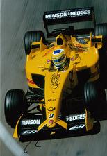 Giancarlo Fisichella Hand Signed B&H Jordan Ford Photo 12x8 1.