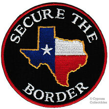 TEXAS IMMIGRATION PATCH SECURE THE BORDER STATE FLAG embroidered iron-on EMBLEM