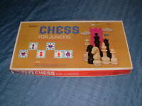 VINTAGE 1965 SELRIGHT TOY BOARD GAME CHESS for JUNIORS