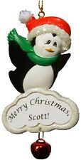 PERSONALIZED PENGUIN ORNAMENT MAGNET JEANE'S THINGS CHRISTMAS