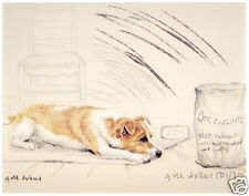 JACK RUSSELL TERRIER DOG ART LIMITED EDITION PRINT - with Dog Biscuits