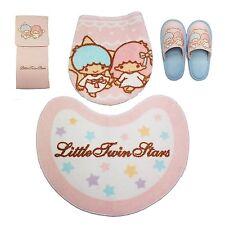 Sanrio Little Twin Stars Toiletry Set Matt, Paper Holder, Slippers, Cover