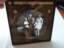 Vintage Family Dated 1914 ~ RARE Glass Old Lantern Slide FREE WORLDWIDE POSTAGE