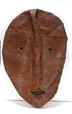 Jerry Coker  FOLK ART  Face  ON METAL OUTSIDER ARTIST Snow Trader  signed