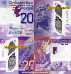 CLYDESDALE BANK OF SCOTLAND, £20, 2020, P-NEW (Not yet in catalog), Polymer, UNC