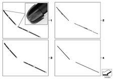 MINI Genuine Front Windscreen Standard Metal Wiper Blades Set 61612156548
