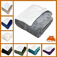 Teddy Bear Sherpa Double Bed Size Large Blanket Sofa Throw Cover Flannel Fleece