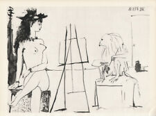 PABLO PICASSO - 10.01.54  woman erotic monkey HELIOGRAVURE from VERVE 1954 suite