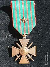 B6D) Médaille militaire croix de guerre 1914 1918 1 citation WW1 french medal