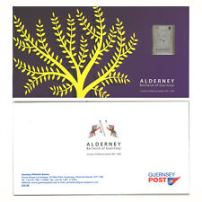2008 ALDERNEY 25 YEARS OF STAMPS Incl. Silver Stamp, Mini Sheet & Sets MUH FV£15