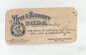 VINTAGE ARM & HAMMER BAKING SODA ADVERTISING INK BLOT