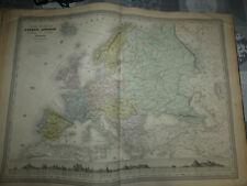 carte issue atlas universel dufour dyonnet 1865 abel pilon europe actuelle