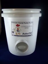 """""""NO   WASTE""""    Automatic Chicken Hanging Gravity Feeder 5 Gallon  - MADE in USA"""