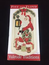 Fitz & Floyd Santa Elongated Tray Christmas New In Box Yuletide Traditions