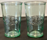PAIR Anthropologie JUS DE FRUIT Drinking Glasses  Recycled Glass ITALY 16oz VG