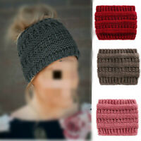 Women's Girl Winter Knitted Ear Warmer Knot Headband Crochet Soft Hat Hairband