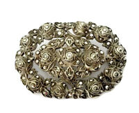 Vintage Large Heavy Sterling Silver & Marcasite Brooch - GIFT BOXED