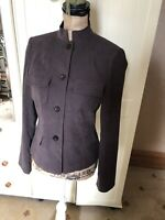 ATMOSPHERE Ladies Brown Microfibre Smart Button Up Blazer Jacket Size 10