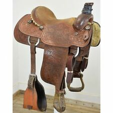 "Used 15.5"" Dale Martin Team Roping Saddle Code: U155DMARTINFTFL"