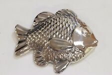 Large Rare Retired James Avery Sterling Silver Crucian Carp Pendant or Brooch