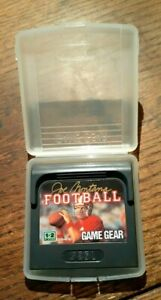 Joe Montana Football (Sega Game Gear, 1991) Excellent Condition &  Authentic