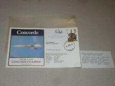 SIGNED CONCORDE 214 G-BFKW FLIGHT COVER 1978 VINTAGE R.D. GRIFFIN