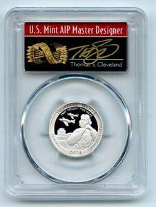 2021 S 25C Silver Tuskegee Airmen Quarter PCGS PR70DCAM FS Cleveland Arrows