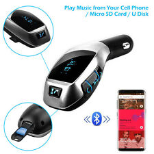 Bluetooth FM Transmitter MP3 Player USB Stick KFZ Auto SD AUX Freisprechanlage