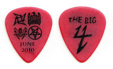 Metallica Big 4 Red Black Guitar Pick - Slayer Megadeth Anthrax - 2010 Tour