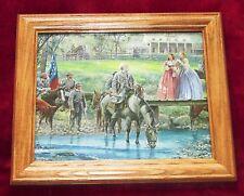 Framed Civil War Painting. Mort Kunstler, Robert E Lee, Bel Air, Gettysburg